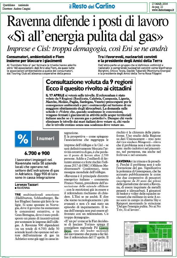 Ravenna difende i posti di lavoro 27 marzo