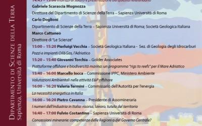 Incontro informativo sul referendum del 17 aprile 2016 relativo alle concessioni minerarie nei mari italiani