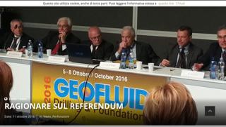 """L'intervento del Consigliere regionale emiliano-romagnolo Gianni Bessi a """"Geofluid"""""""