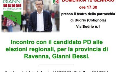 Incontro con il candidato PD alle elezioni regionali, per la provincia di Ravenna, Gianni Bessi