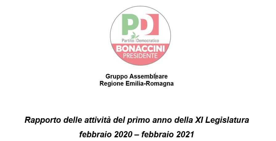 Repporto annuale delle attività febbraio 2020 – febbraio 2021
